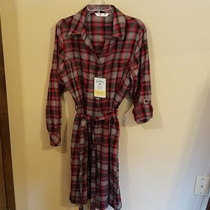Flannel dress/top